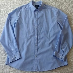 H&M Easy Iron Pinstripe Long Sleeve Men's XL